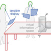 Spatially Aware Tangible Display Interaction in a Tabletop Environment