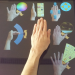 Hand Contact Shape Recognition for Posture-Based Tabletop Widgets and Interaction