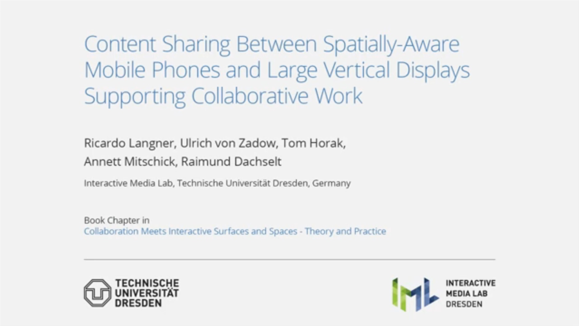 Full video of Content Sharing Between Mobile Devices.