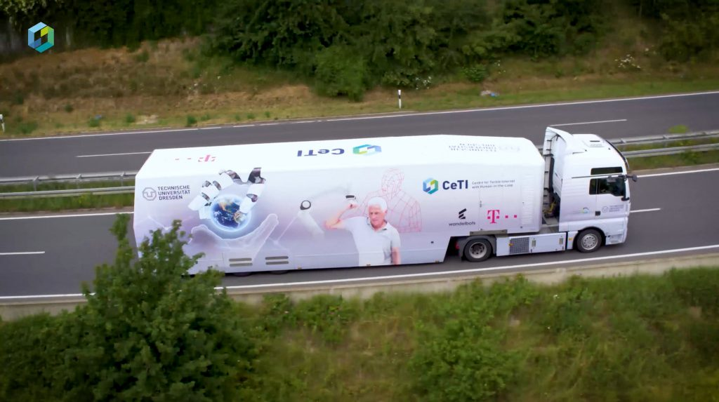 Picture of the CeTI-Truck, Link to a Video about the truck