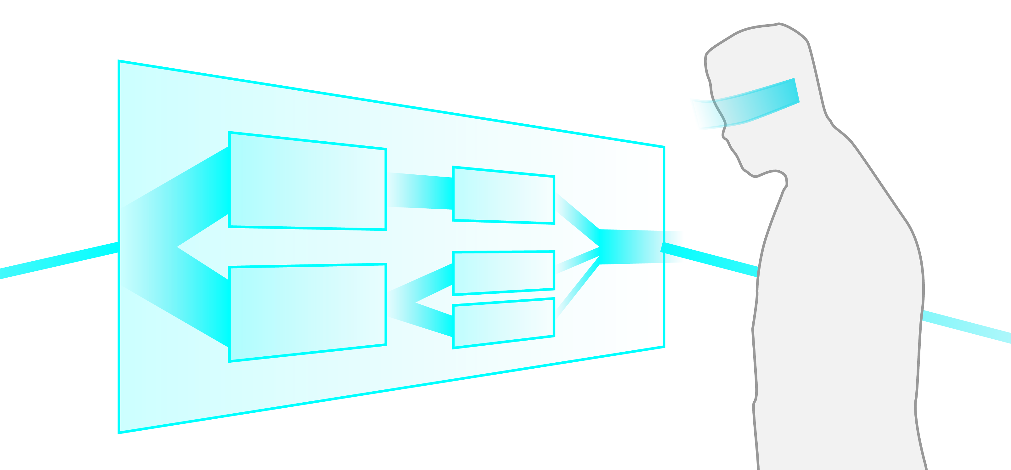 Example illustration of an AR application using the Filter/Flow model