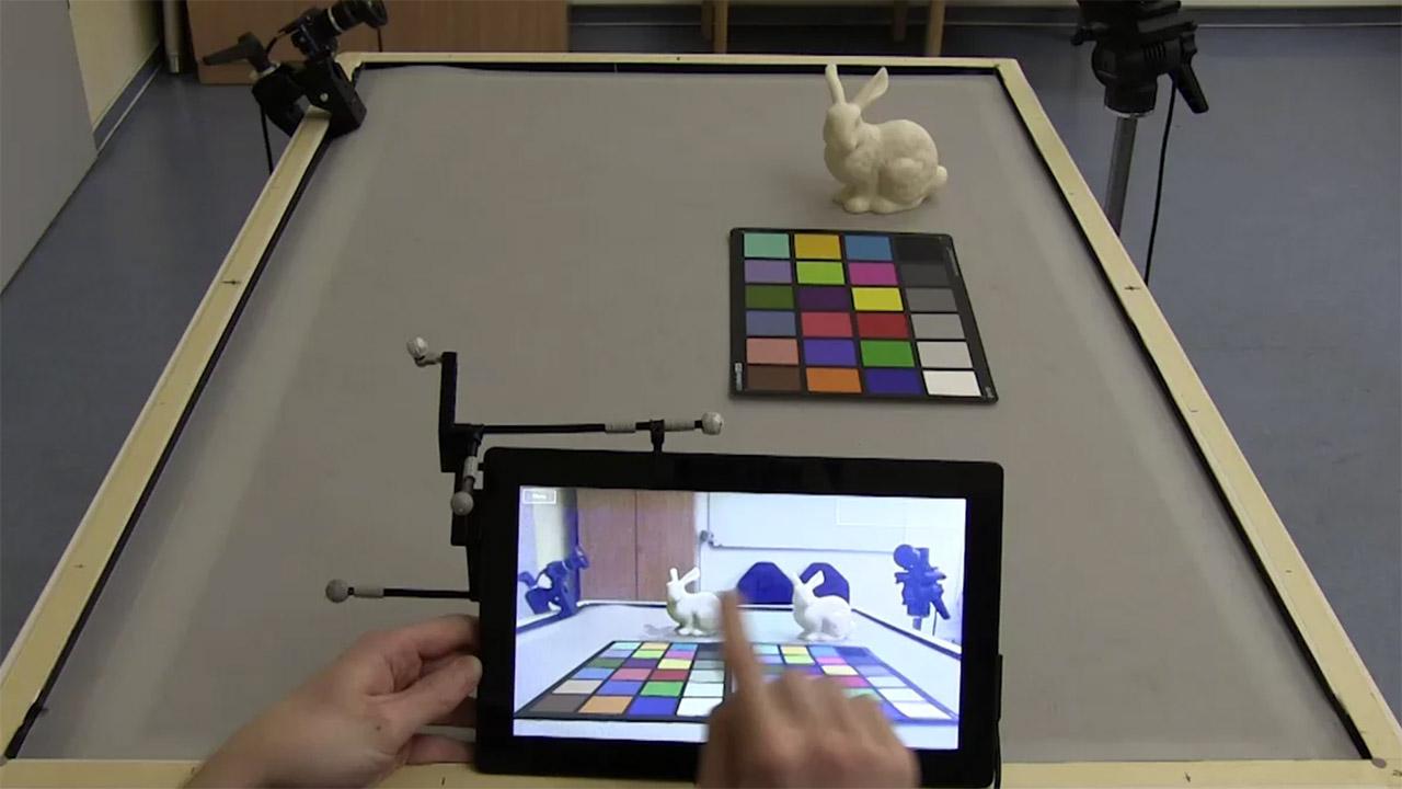Thumbnail für das begleitende Video zur IPAR-Publikation 'Interactive Near-field Illumination for Photorealistic Augmented Reality on Mobile Devices'