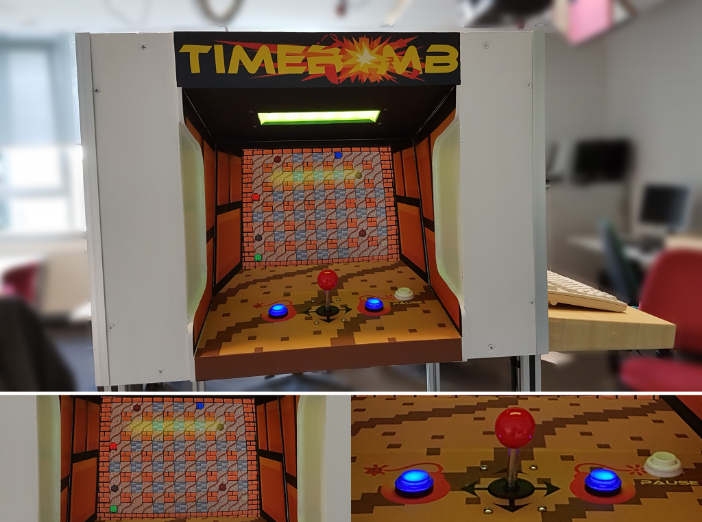 Arcade side of the TimeBOMB game station.