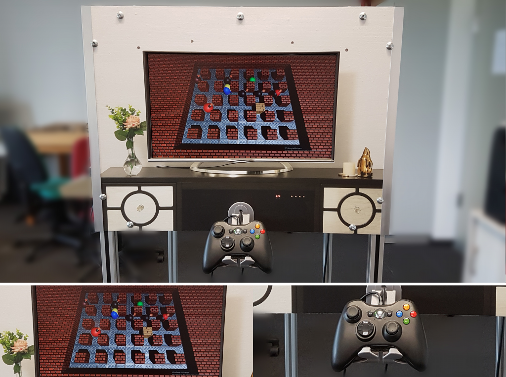 Modern side of the TimeBOMB game station.