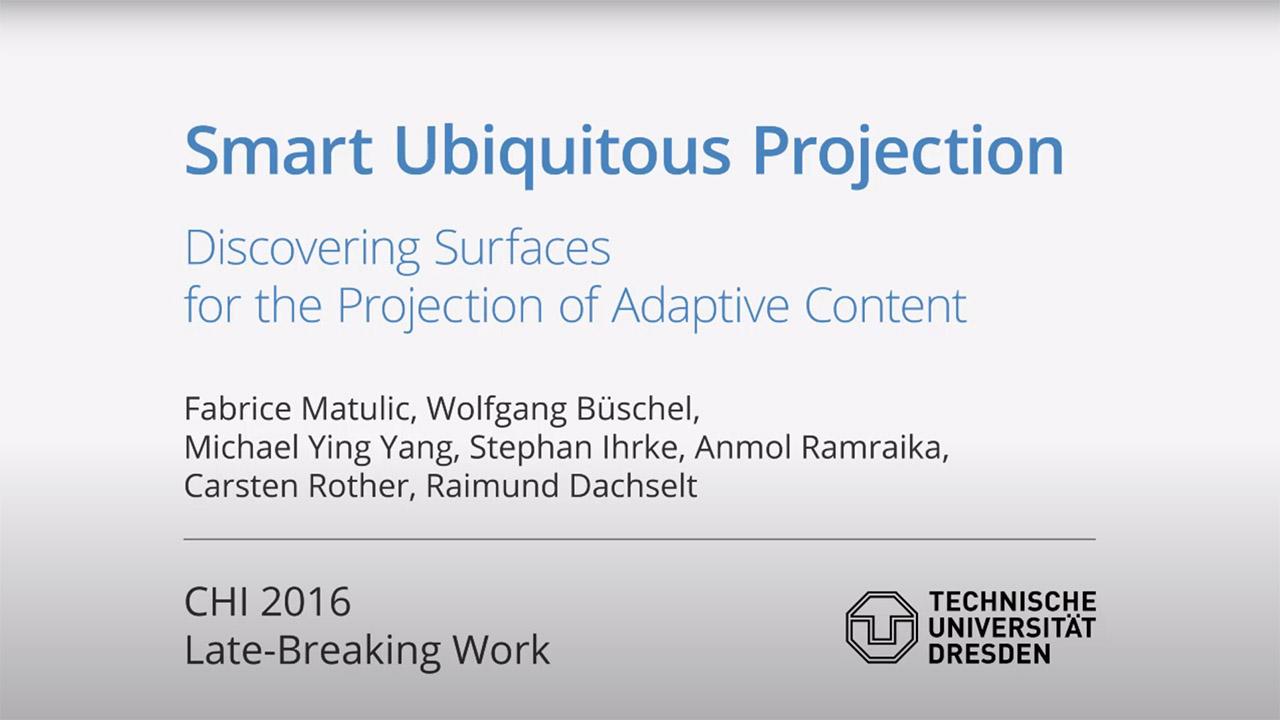 Thumbnail für das begleitende Video zur IPAR-Publikation 'Smart Ubiquitous Projection'